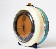 Rare Lovely Vintage Alarm clock/Made in Czechoslovakia