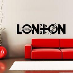 Sticker London Underground - Union Jack - sticker Villes et Voyages Londres - Ambiance-sticker