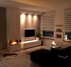 Exceptional home decor ideas information are available on our website. Take a look and you wont be sorry you did. Home Living Room, Home Fireplace, Cozy House, House Styles, Home Decor, House Interior, Home Deco, Home And Living, Living Room Designs