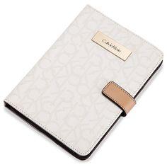 Calvin Klein Women's Jordan Mini Tablet Portfolio (55 AUD) ❤ liked on Polyvore featuring accessories, tech accessories, off white and calvin klein