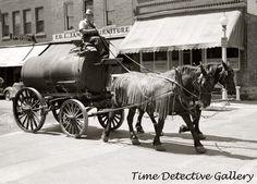 Horse Drawn Water Wagon --  Southern Minnesota (1937) Historic Photo Print   eBay