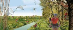Go nuts ! De PeelRaamStelling wordt een verzameling van rietvloeivelden met vogels en insekten. Daarnaast ligt de defensiewal met een fietspad en de kazematten als orientatiepunten vormen die zicht bieden tot diverse dorpen en nutsgoederen in de omgeving. Inge Vleemingh