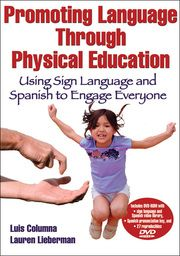 Promoting Language Through Physical Educationhelps physical education teachers integrate non-English speakers and Deaf children in their classes. Games and strategies allow teachers to infuse language into their daily classes, and Spanish and sign language dictionaries contain key words and phrases. A bound-in DVD-ROM presents common terms in both Spanish and American Sign Language and offers many reproducibles.