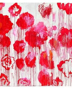 © Blooming, de Cy Twombly (2001-2008). courtesy Archives Fondazione Nicola Del Roscio