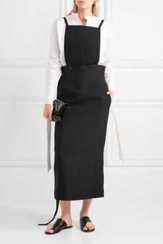 Joseph - Idaho Crepe Midi Dress - Black - FR42