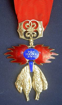 Spain, Golden Fleece Order, neck badge with etui, 19th Century, Madrid.