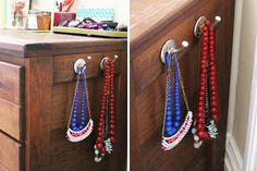 Attach adhesive Hooks to your Dresser | 40 Clever Hacks for the Home