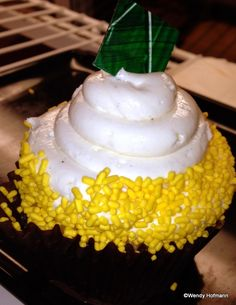 Pineapple Rum Cream Cheese Cupcake anyone? At Disney World!