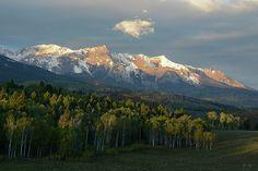 Sunrise on the San Juan mountains near Ouray, Colorado : Mountain photography by Aaron Spong
