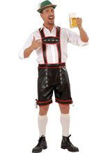 Trachtenhose Herren Oktoberfest schwarz-rot aus unserer Kategorie Karnevalskostüme Klassiker. Perfektes Karneval Herrenkostüm für ausgelassene Partys im Bierzelt, auf der Mottoparty oder an Fasching. Da schmeckt das Bier gleich doppelt so gut!