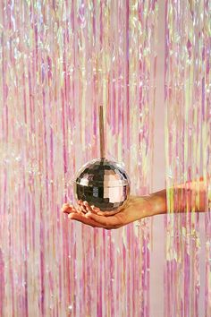 Iridescent Fringe Door Curtain Party Banner disco ball sippy cup silver pink look looks inspo ideas inspiration Deco Disco, Disco 80, Disco Queen, New Years Eve Decorations, Disco Party Decorations, Studio 54, Video Studio, Door Curtains, Fringe Curtains