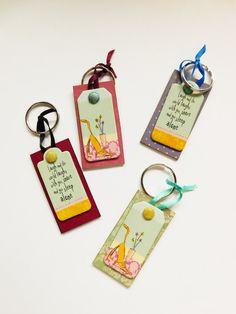 Cute and Colourful Keyrings by handmadebystrawb on Etsy
