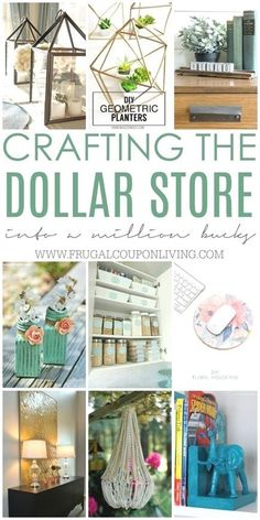 Crafting the Dollar Store - DIY Dollar Store Crafts and Hacks on Frugal Coupon Living. Dollar Store Craft Ideas for your home. : Crafting the Dollar Store - DIY Dollar Store Crafts and Hacks on Frugal Coupon Living. Dollar Store Craft Ideas for your home. Apartment Decoration, Diy Home Decor For Apartments, Diy Home Decor Projects, Diy Home Crafts, Diy Crafts To Sell, Decor Ideas, Adult Crafts, Easy Crafts, Decor Crafts