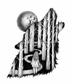 Illustrations by Thiago Bianchini - Ego - AlterEgo Art Inspo, Inspiration Art, Animal Drawings, Pencil Drawings, Art Drawings, Stylo Art, Stippling Art, Pen Art, Illustration