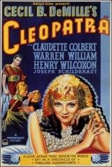 Cleopatra.1934 Duración 95 min. Director Cecil B. DeMille Guión Waldemar Young & Vincent Lawrence Música Rudolph Kopp Fotografía Victor Milner Reparto Claudette Colbert, Warren William, Henry Wilcoxon, Joseph Schildkraut, Gertrude Michael, Ian Keith