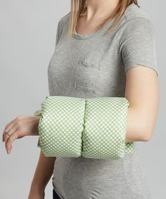 Love this Comfy Cradle Green & White Polka Dot Support Pillow by Comfy Cradle on #zulily! #zulilyfinds