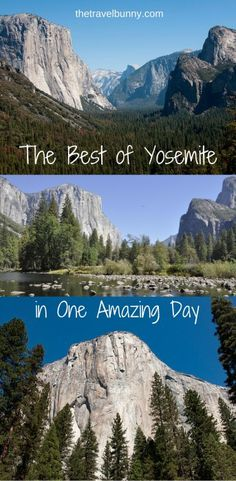 Travel guide on how to get the best out of a day trip to Yosemite National Park, California
