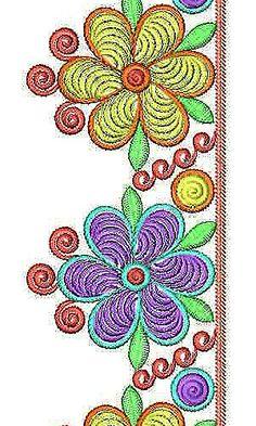 Traditional Saree Lace Border Brocade Embroidery Design