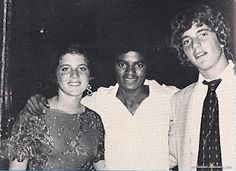 A true classic: Caroline and John Jr. pictured with MICHAEL JACKSON in the early 1980s, when Jackie was working with him to edit his book.