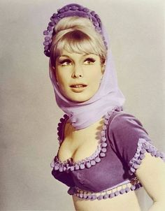"Barbara Eden - ""I Dream of Jeannie"" (TV - Costume designer : Grady Hunt, Barbara Eden, Hollywood Glamour, Classic Hollywood, Old Hollywood, I Dream Of Jeannie, Julie Newmar, Female Actresses, Actors & Actresses, Great Tv Shows"