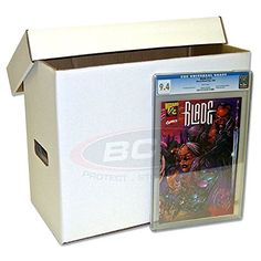 2 Ct Graded Comic Storage Boxes with Lids Plus 4 Tall Comic Book Dividers * For more information, visit image link.