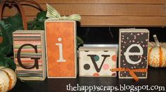Give Thanks Blocks - getting ready with these great DIY projects that we can do with the whole family!