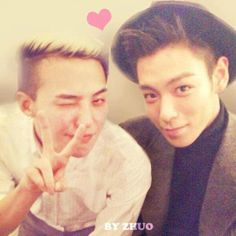 Cute pic of G Dragon and T.O.P