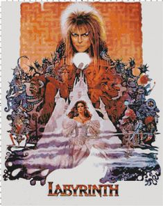 A great poster from Labyrinth, the gorgeous fantasy movie by Muppet-eer Jim Henson! Starring David Bowie and Jennifer Connelly. Need Poster Mounts. David Bowie Labyrinth, Labyrinth 1986, Labyrinth Movie, Jim Henson, Best Movie Posters, Movie Poster Art, Jennifer Connelly, Fraggle Rock, Funny Memes