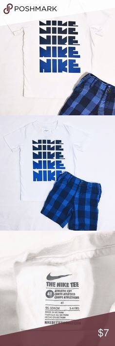 Nike Tee Nike t-shirt in great condition. Sz 3-4 yrs. Take advantage of Bundling to save💲on items and shipping!! 👍🏽 Nike Shirts & Tops Tees - Short Sleeve