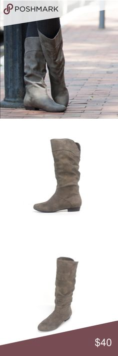 Slouch boots Super cute gray slouch boots , NWOT Shoes