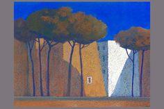 Pastel  |  Façade, soir  |  52x67 cm  |  Gerard Jan