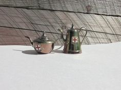 Mini Copper Teapot Set of 2 Made in England by ChristinaireDesigns, $22.95