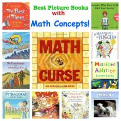 Many students will be able to understand mathematics concepts through literature! Here are some really good choices to use to integrate LA with Math.