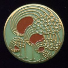 Lovely Art Nouveau button