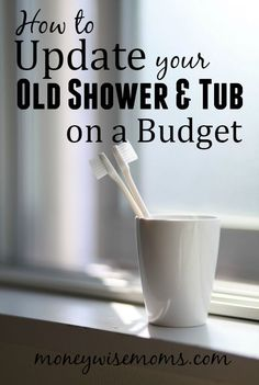 Update Your Old Shower and Tub on a Budget Doing home reno on a budget? Try these methods to update your old shower & tub on a budget and make your bathroom look like new! Diy Home Decor On A Budget, Kitchen On A Budget, Decorating On A Budget, Diy Bathroom Remodel, Budget Bathroom, Bathroom Makeovers On A Budget, Home Renovation, Home Remodeling, Kitchen Remodeling