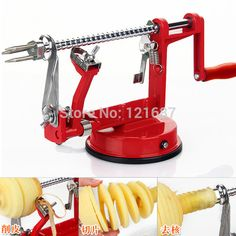 3 in 1 #apple peeler #fruit peeler slicing #machine / stainless steel apple fruit machine peeled tool #Creative #Home #Kitchen