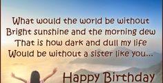 Birthday Wishes For Sister - Happy Birthday Wishes - Birthday ...