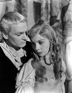 Laurence Olivier & Jean Simmons for Hamlet, 1948.