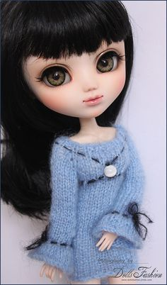 Knitted dress for Pullip Dolls (Obitsu)   Flickr - Photo Sharing!
