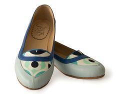 Mocasín Blue Unique leather flat shoes Blue by QuieroJune