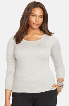 Lauren Ralph Lauren Tie Back Ballet Neck Sweater (Plus Size) available at #Nordstrom