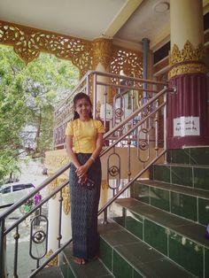 # Burmeseoutfit #lovetowearir #Myanmargirl #ootdmyanmar