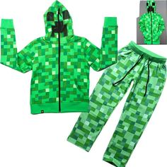 Minecraft Boys Hoodies Suits Two Piece SetsHoodie+Pants Kids Spring Autumn Outfit Boys Cartoon Long Sleeve Tracksuits Casual Suit 4 14y From Elizafashion, $20.66 | Dhgate.Com