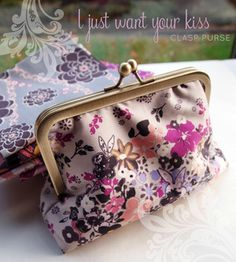 Fun tutorials  free snap coin purse pouch sewing pattern