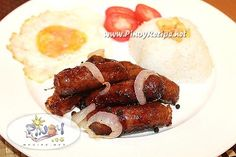 Lucban Longganisa Recipe is best eaten together with Sinangag and fried egg then dipped in vinegar for added taste, this combo meal is known as Long-Si-Log.