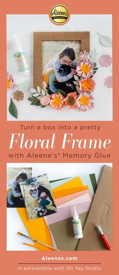 Aleene's Original Glues - Paper Flower Frame Spring Craft with Memory Glue #floral #paperflowers #paperfloral #diyframe #floralframe #aleenes #aleenesdiy Flower Svg, Flower Frame, Quick Crafts, Crafts For Kids, Easy Slime Recipe, Sewing Projects, Diy Projects, Classroom Crafts, Diy Slime