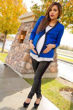 Maternity work-wear: The Perfect Blazer @Isabella Oliver Maternity #maternity #pregnancy #fashion