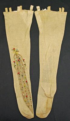 Object Name  Stockings  Date  19th century  Culture  French