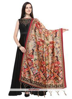 Soft Assam Silk With zalar Traditional Scarves Pure Silk Printed Dupatta KZ B Fashion, Womens Fashion, Anarkali Gown, Thing 1, Silk Dupatta, Dress Images, Indian Dresses, Party Wear, Beautiful Dresses