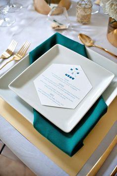 Paleta de Cores Decoração de Casamento Teal ou Verde Azulado